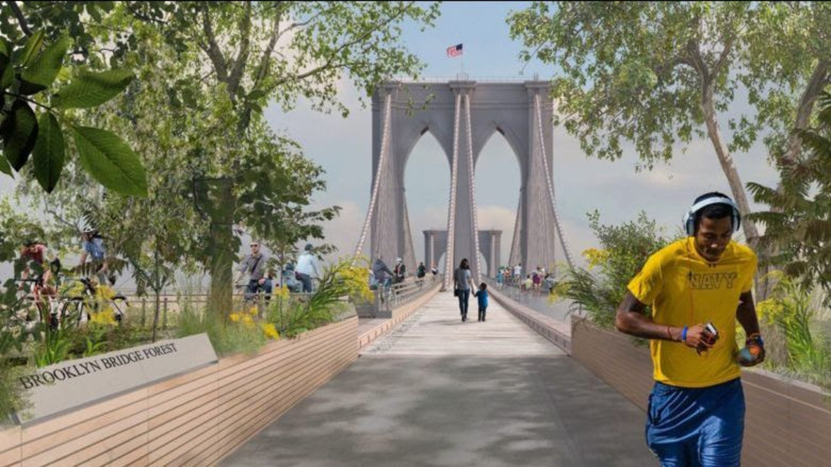 Brooklyn Bridge rendering