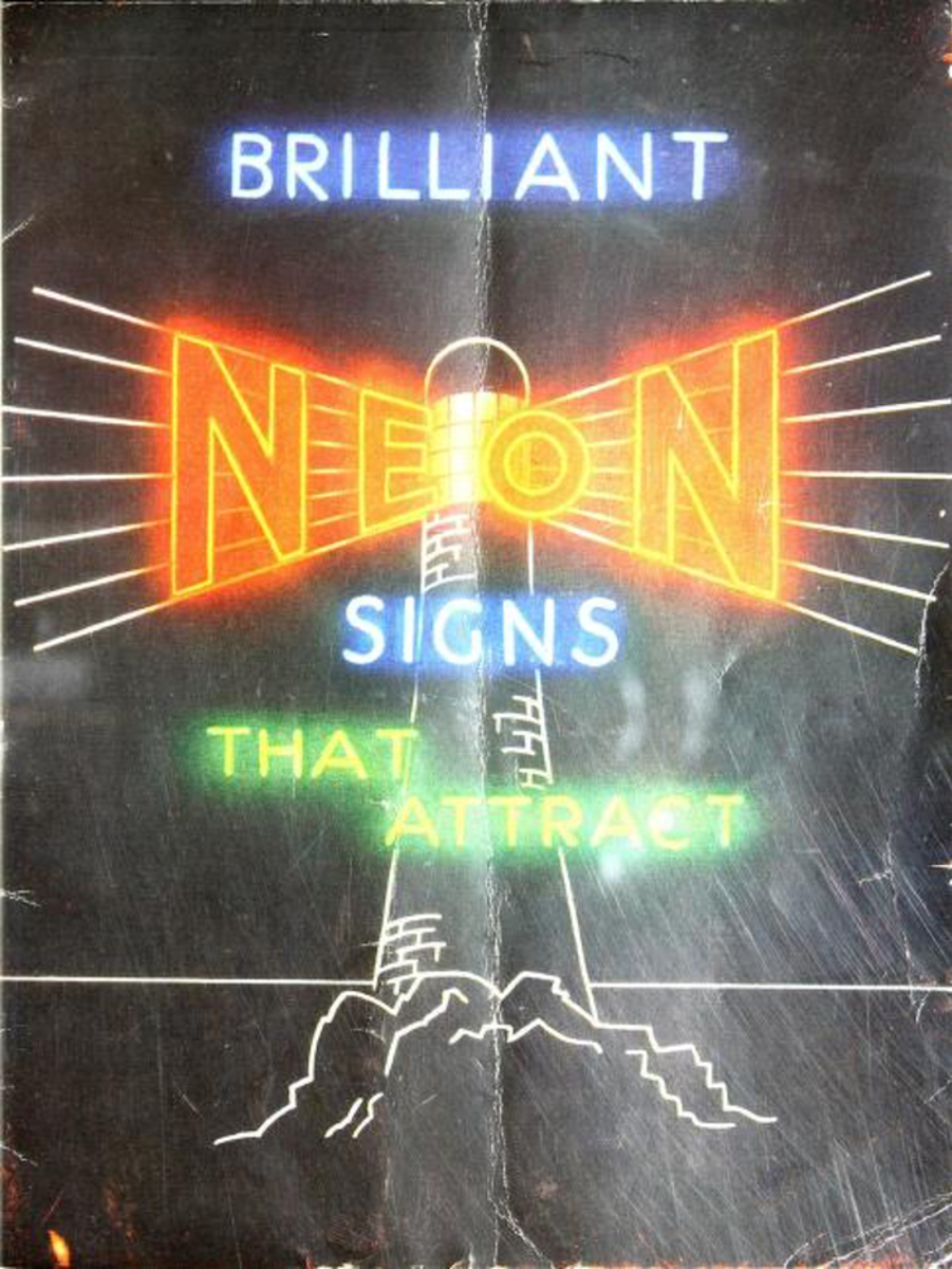 Brilliant neon signs that attract, c. 1940 Paragon Works, Ltd., London, England