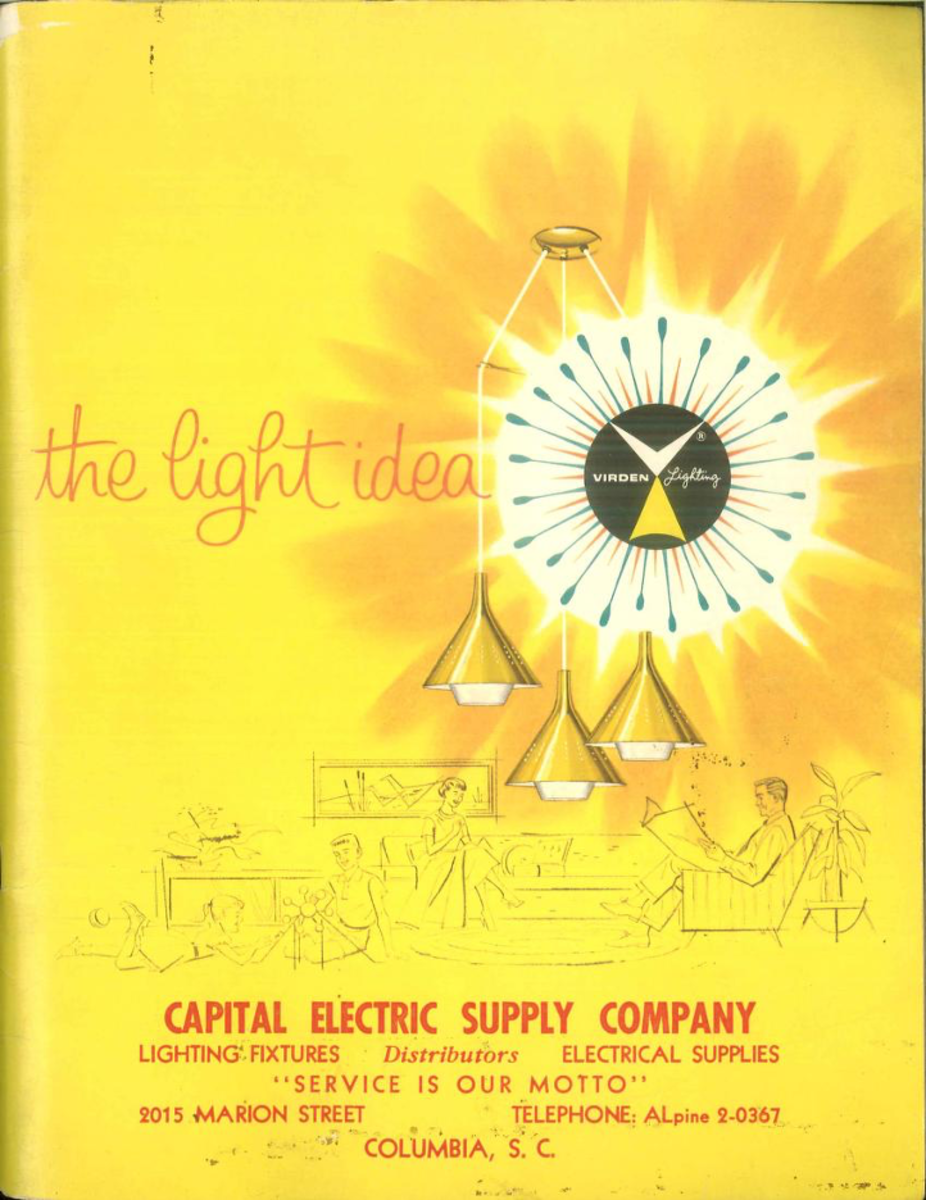 The light idea: Virden lighting. 1959 John C. Virden Co., Cleveland OH