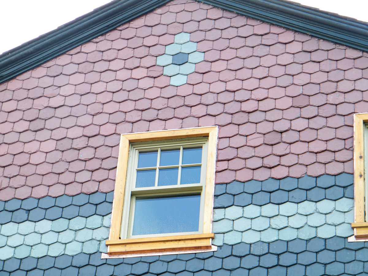 multicolored slate tile