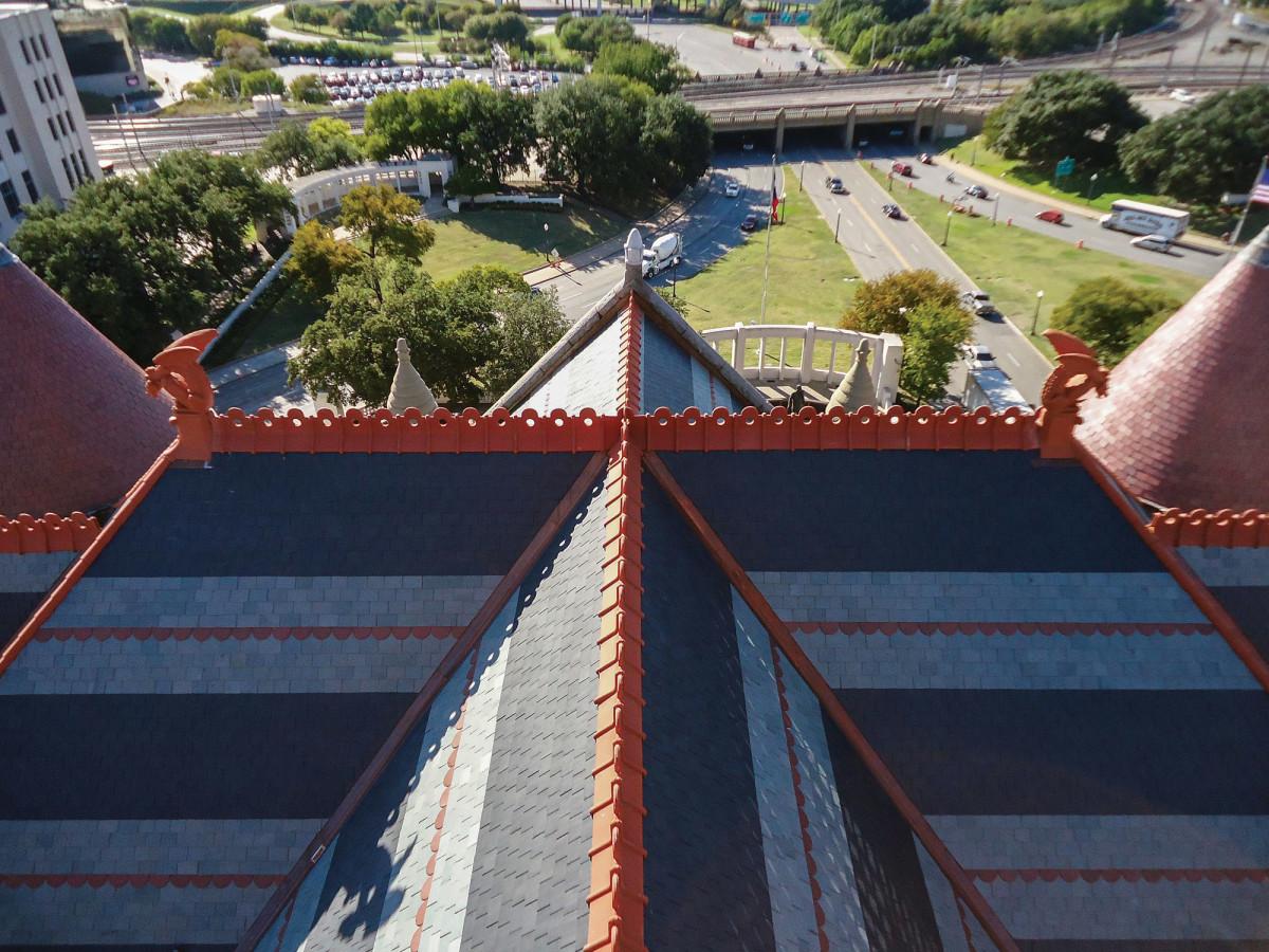 multicolor slate roof