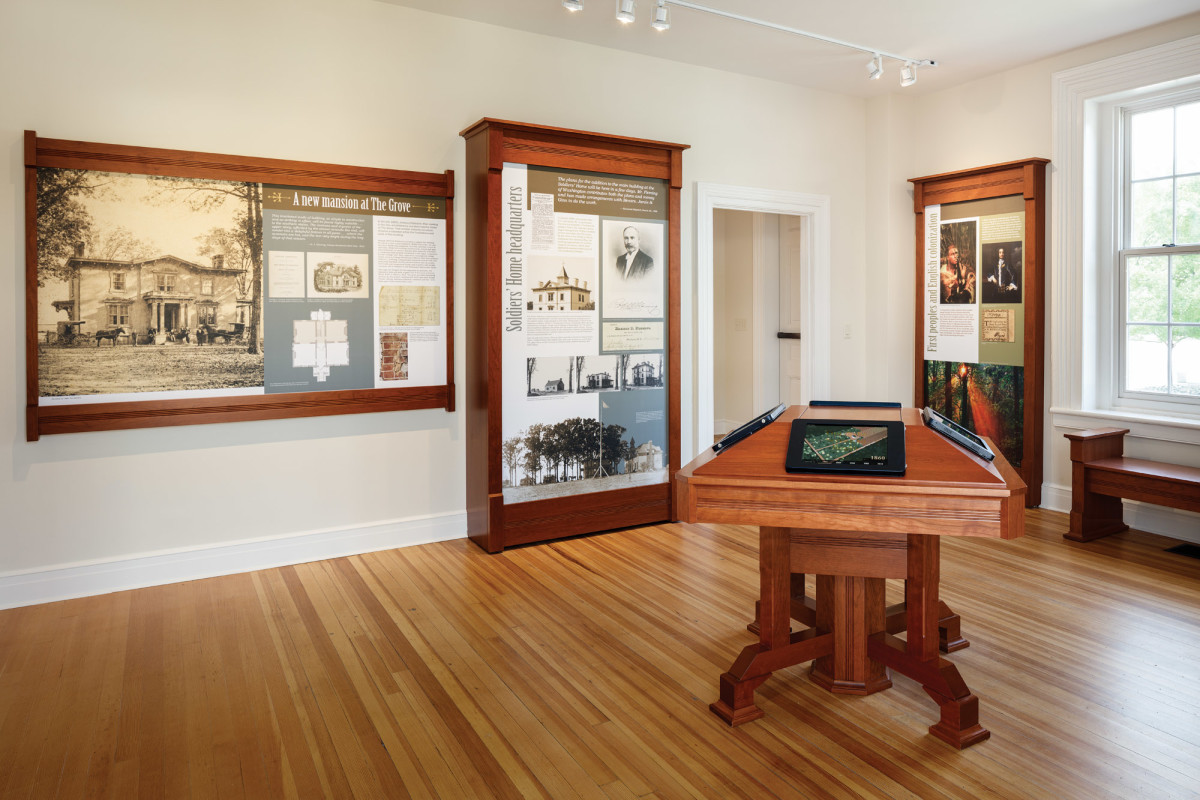 A new permanent gallery on the first floor tells the complex story of the Robinson House from its start as a residence to a convalescent home for Civil War soldiers and finally as a part of the VMFA.