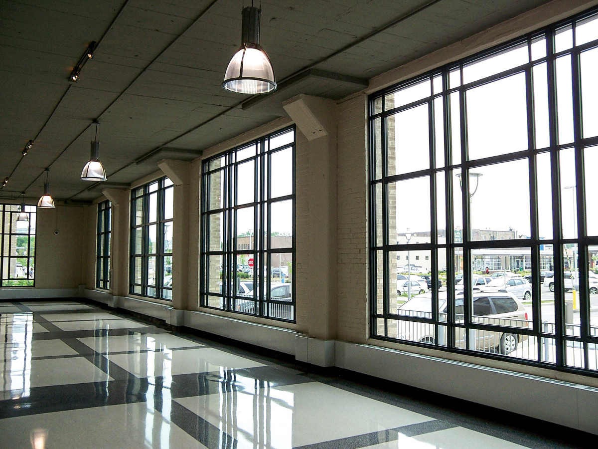 Minneapolis' Midtown Exchange, built in 1928, features aluminum windows by St. Cloud Window.