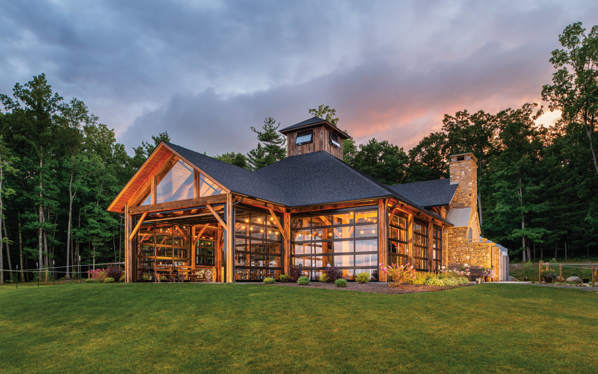 Timber framing, Point of the Bluff Vineyards