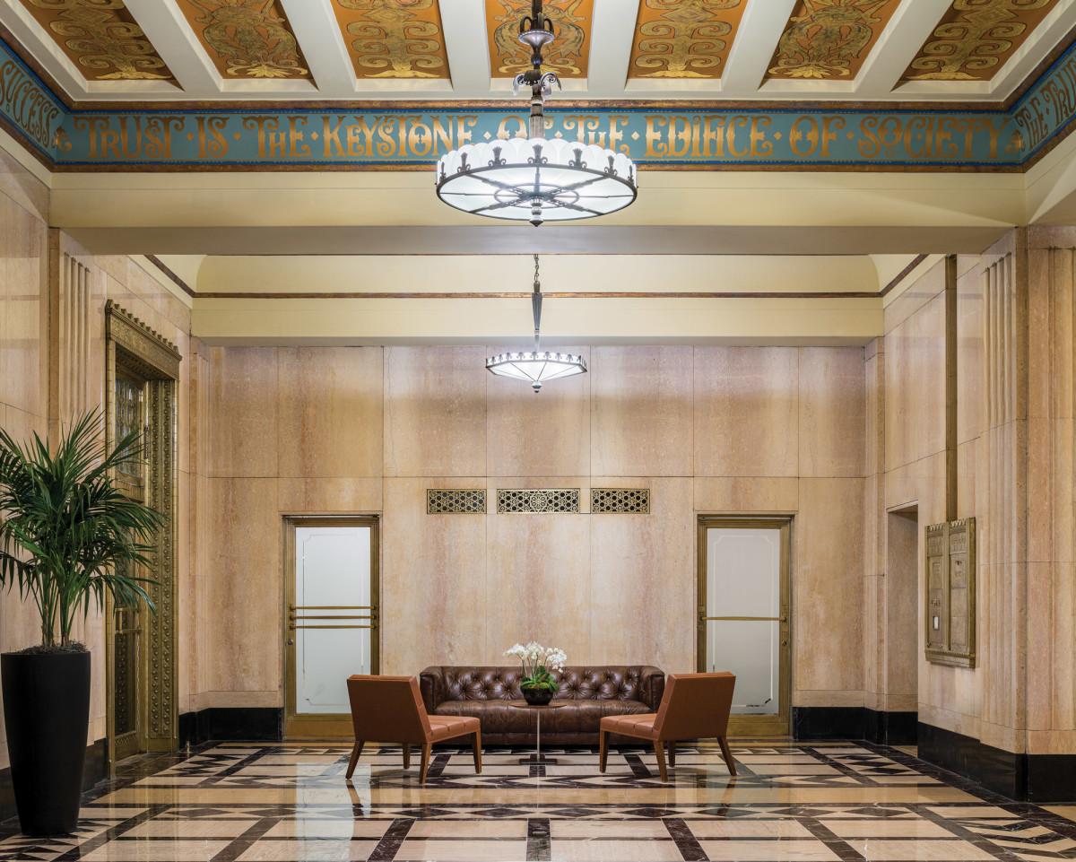 decorative ceiling, brass registers