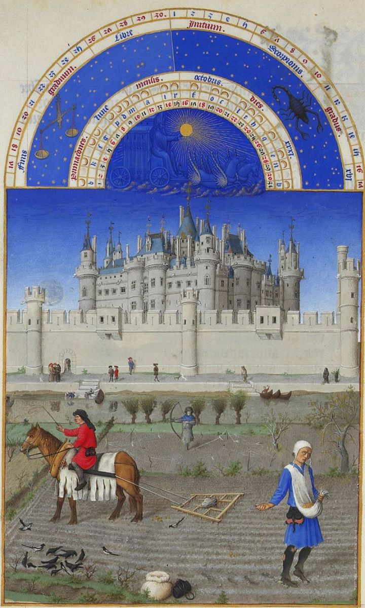 Limbourg Bros, Tres Riches Heures, Louvre, c.1412-16