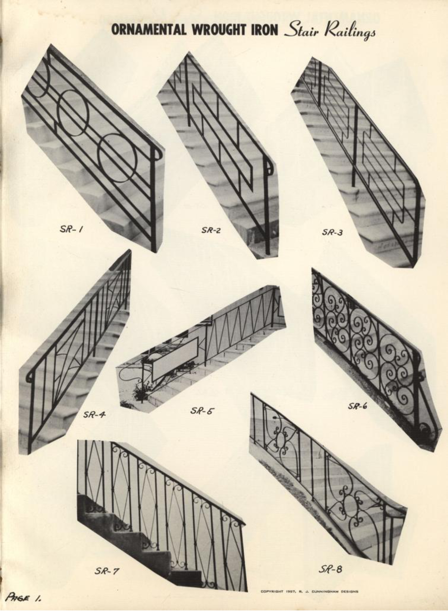 Book of 1400 ornamental iron designs that gain distinctive effects, 1957