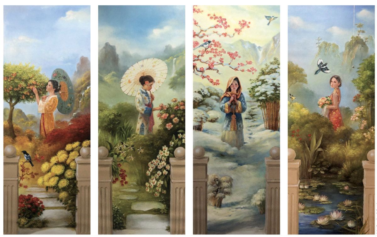 """""""Four Seasons"""" murals by John Canning & Co."""