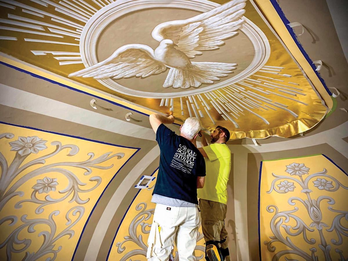St. Joseph Catholic Church in Westphalia, Missouri, commissioned Conrad Schmitt Studios for the interior decoration portion of its renovation.