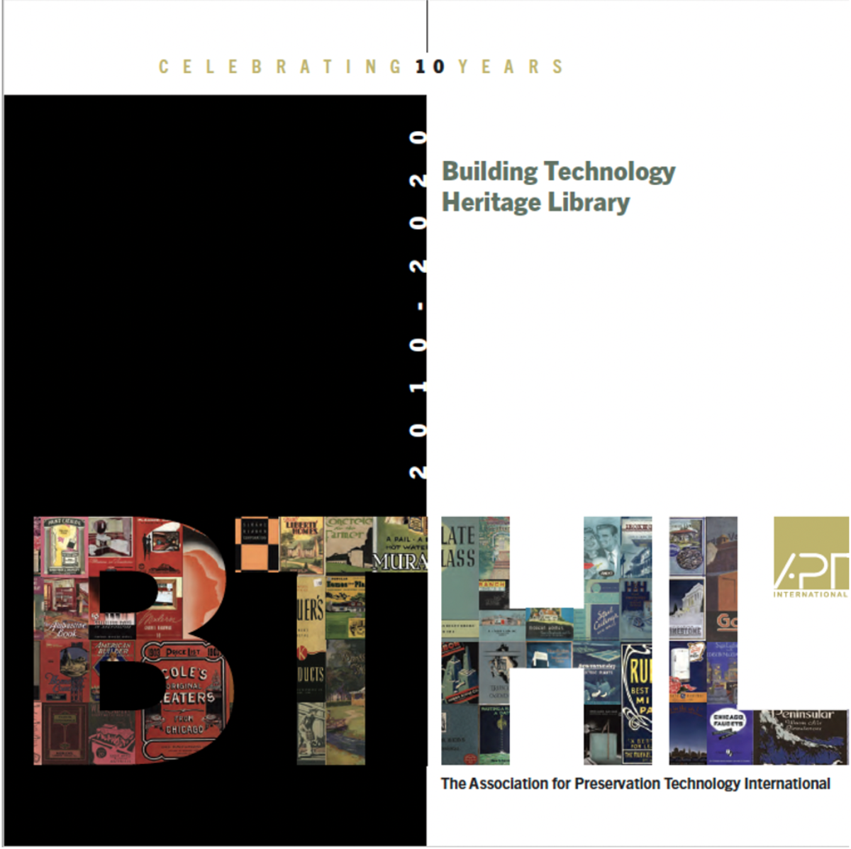 Cover of the Building Technology Heritage Library 10th Anniversary Publication.