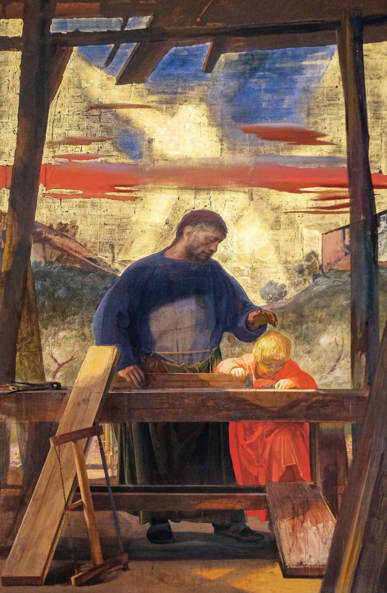 Altarpiece of Saint Joseph the Worker, by Pietro Annigoni