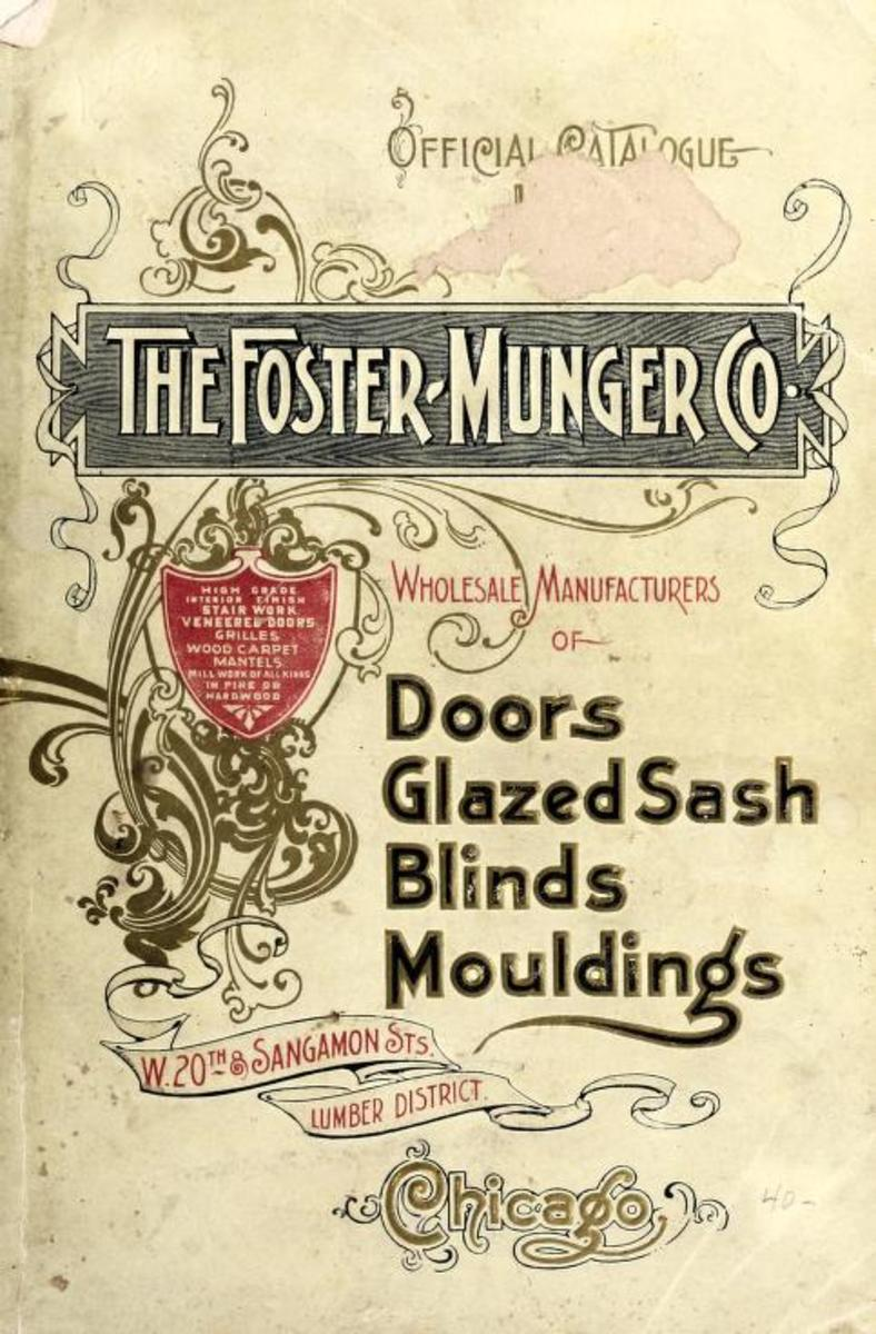 Official price list from the Foster-Munger Co., 1899