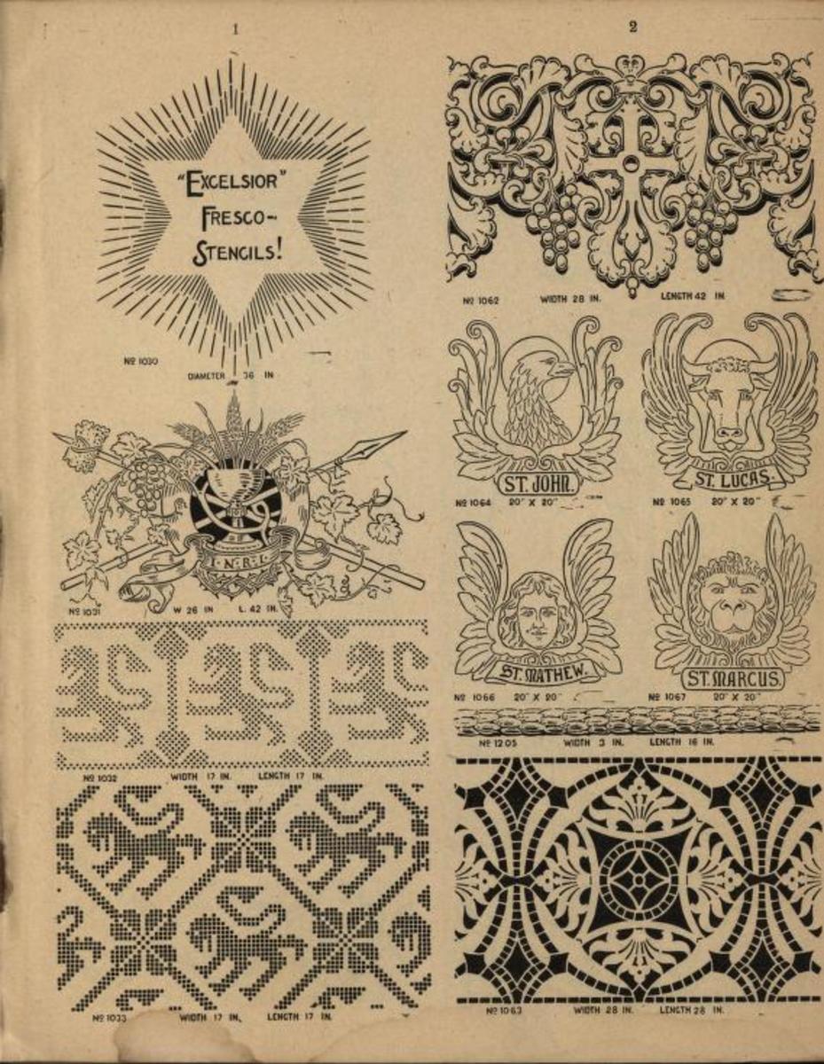 Excelsior fresco stencils, 1924