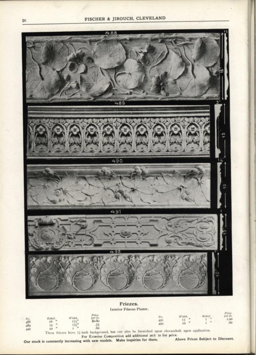 catalogue of interior moulding