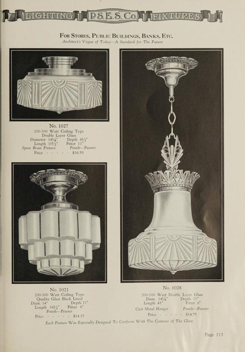 Lighting equipment, 1930, modern art lighting