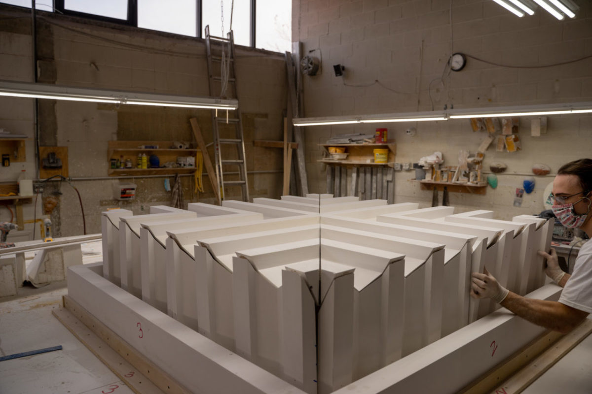 Beginning the fabrication process.