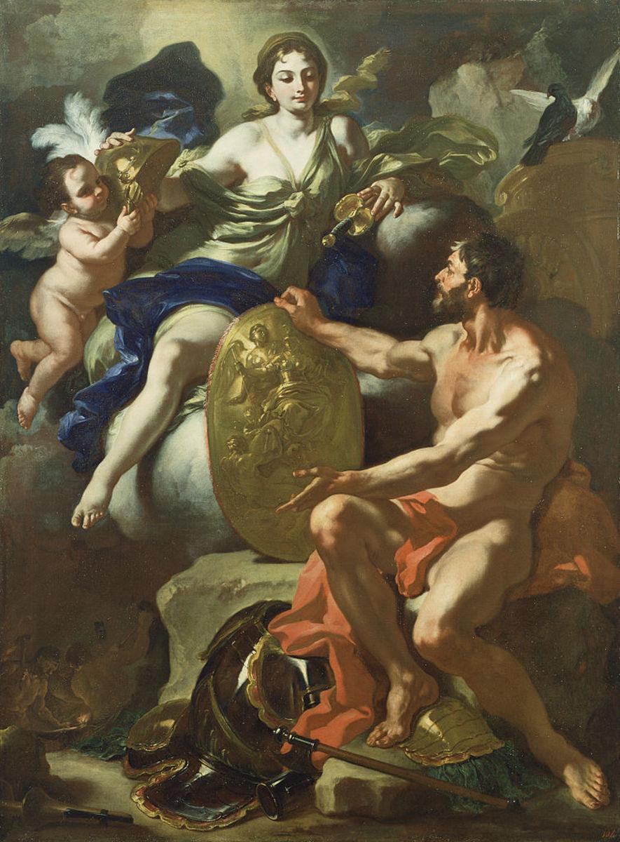 Francesco Solimena - Venus at the Forge of Vulcan, 1704