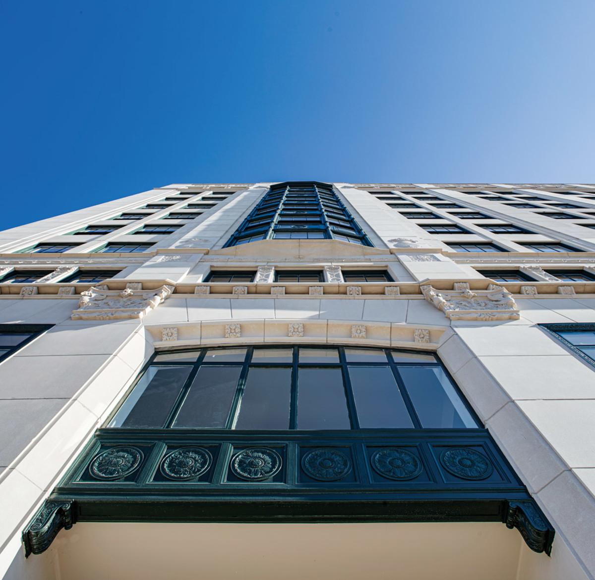 Montgomery Building facade, McMillan Pazdan Smith