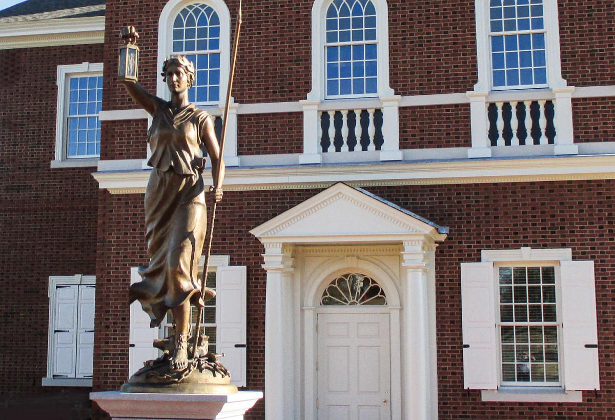 Liberty at American Village, sculpted memorial