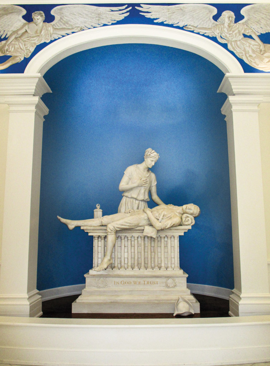 Liberty and the Fallen sculpture, sculpted memorial