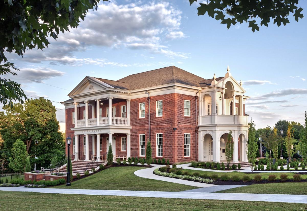Delta Gamma Women's Fraternity House, University of Arkansas, Michael G. Imber, Architects, Palladio Award winner
