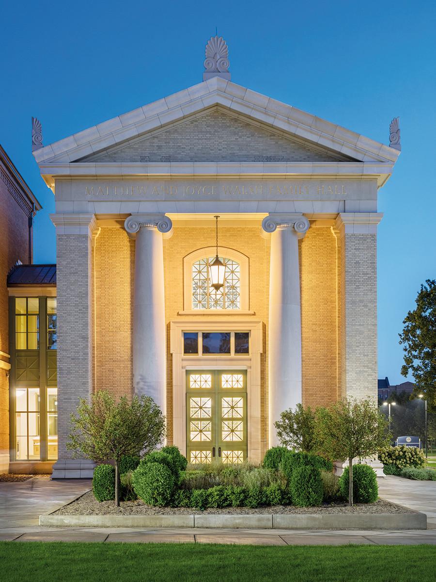 University of Notre Dame Matthew and Joyce Walsh Family Hall of Architecture, Stantec Architecture, Inc. (Executive Architect), JSA Architects (Design Architect), Palladio Award winner