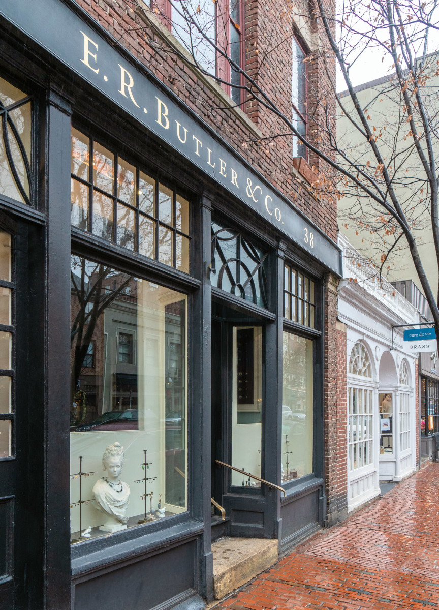 E.R. Butler's shop on Charles Street in Beacon Hill was designed by architect Gil Schafer.