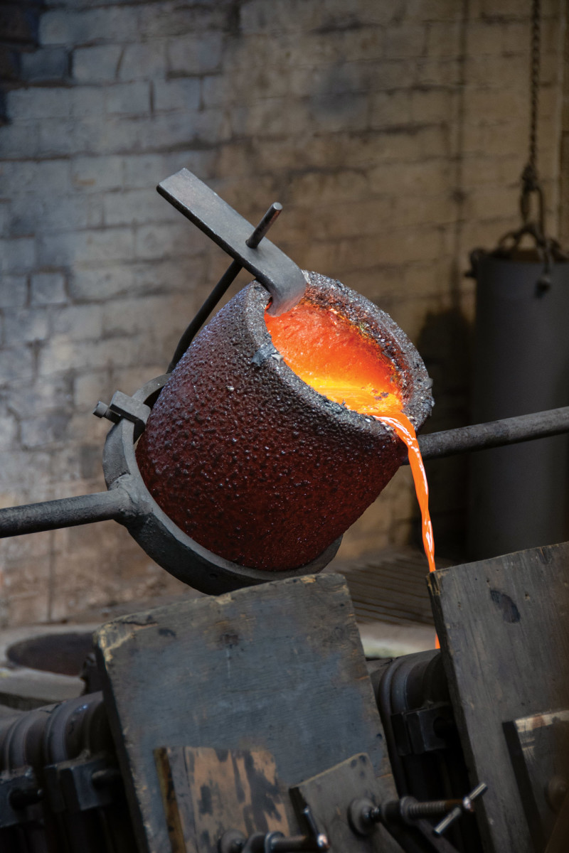 Each piece of P.E. Guerin hardware is cast at its New York foundry.