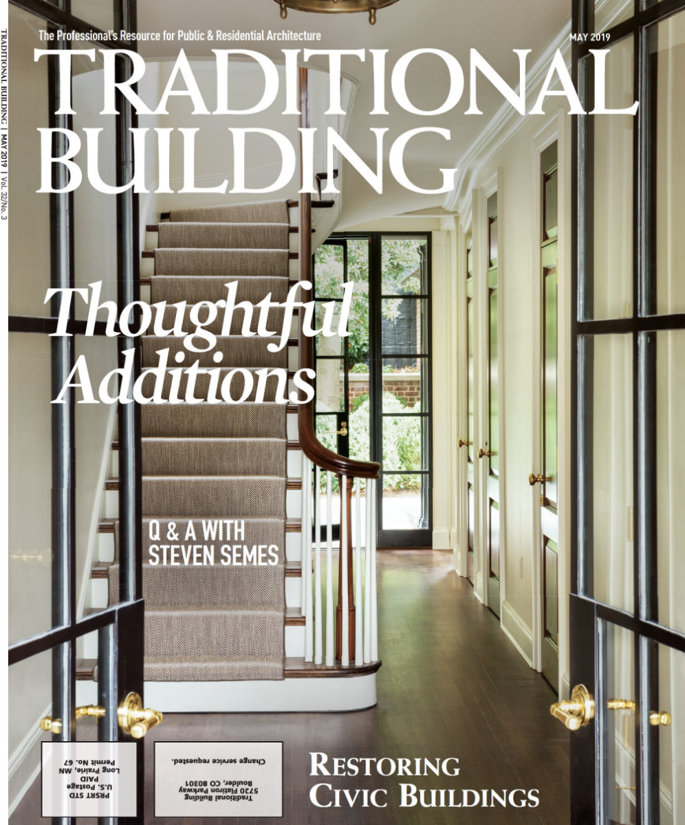 May 2019 issue, Traditional Building