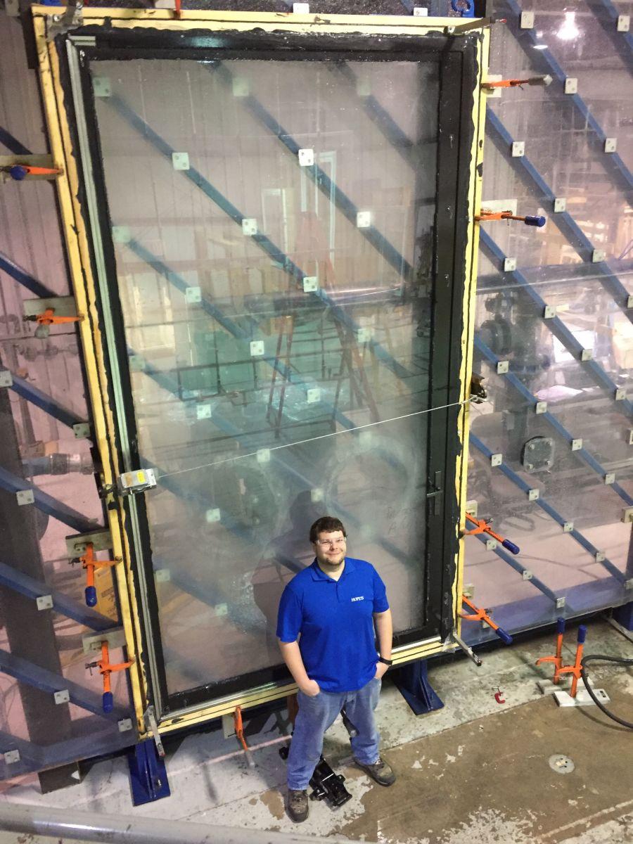 R&D of Hurricane Pivot Door