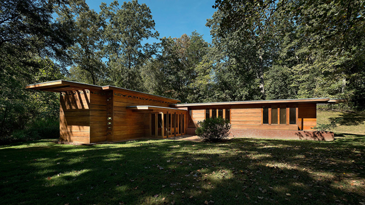 The Frank Lloyd Wright Pope-Leighey House, Alexander, VA: One of 28 National Trust Historic Sites.