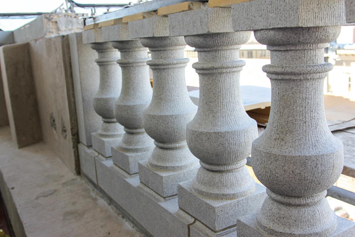terra-cotta balustrades