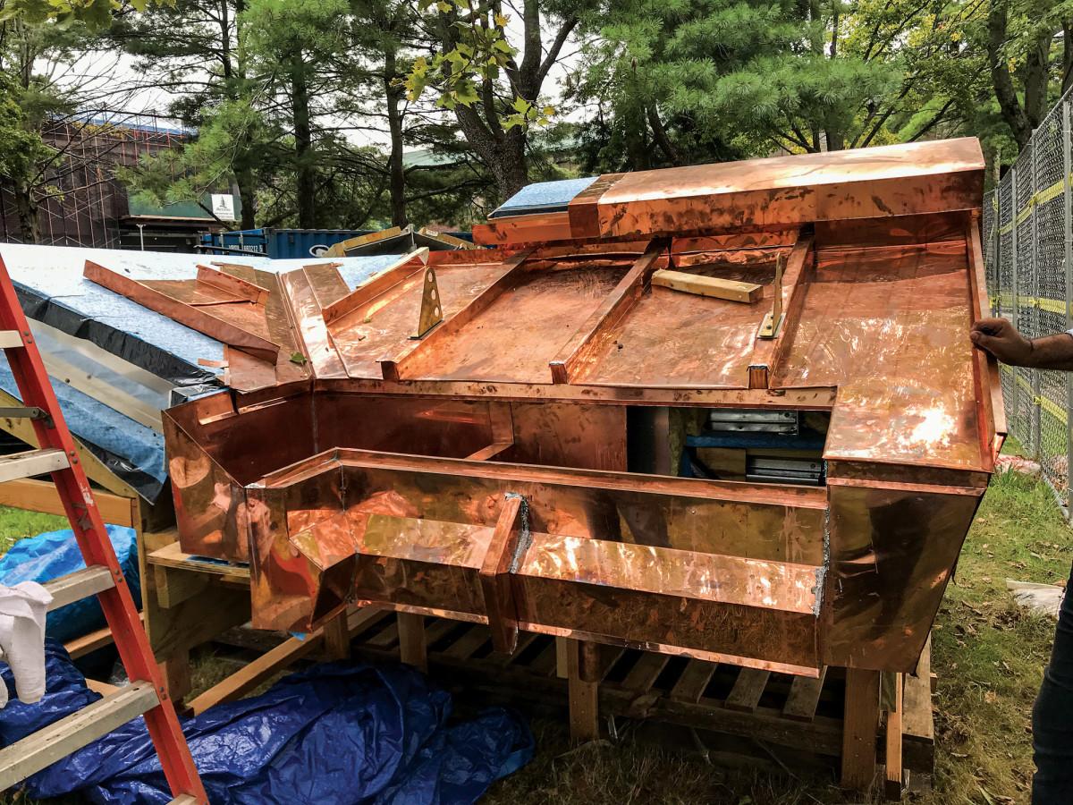 batten-seam copper roofing