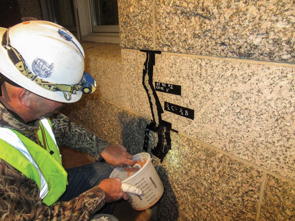 stone facade repair