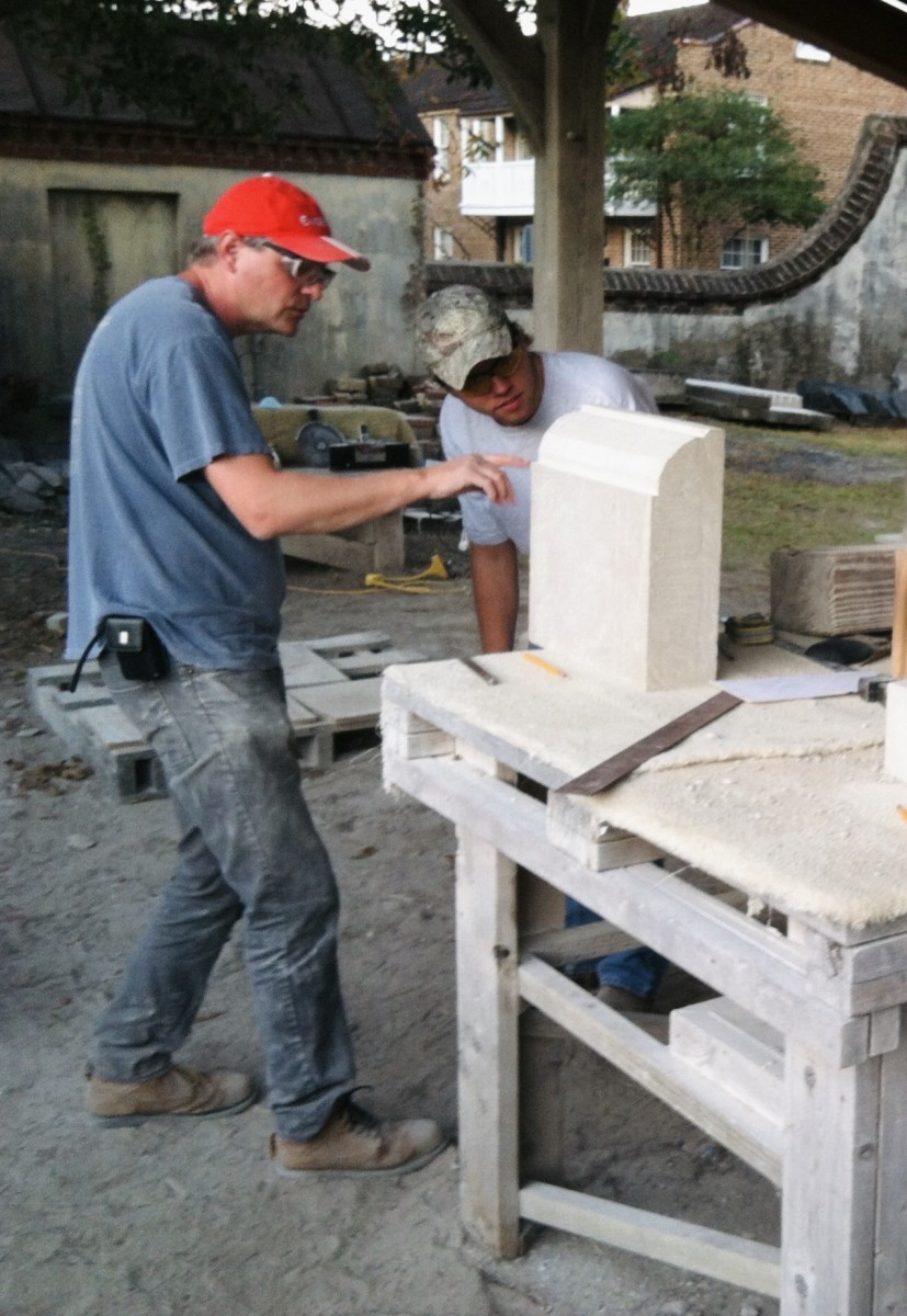 Apprentice Stone Carver in Charleston