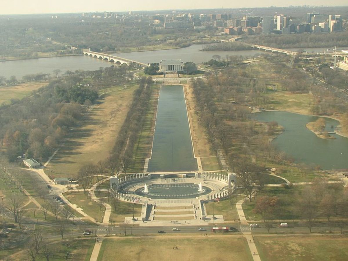 Mall to Lincoln Memorial to Arlington Cemetery