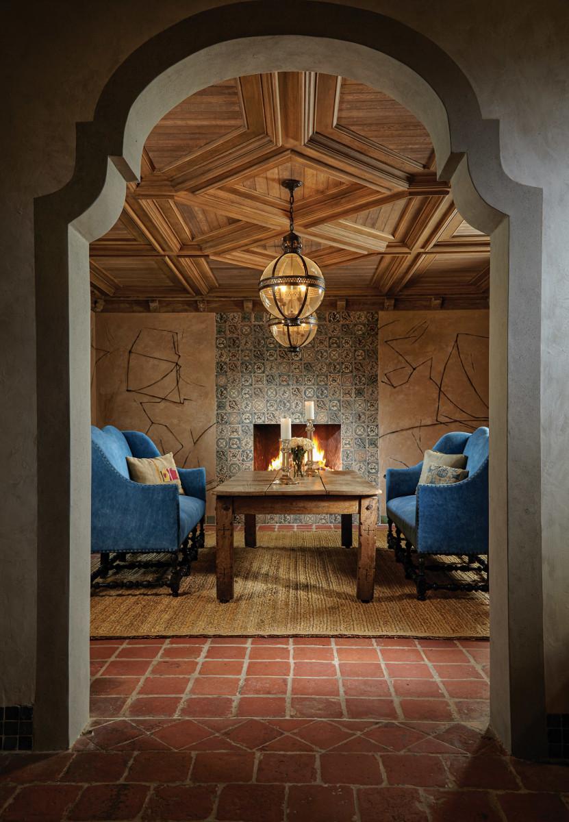 Cypress ceiling