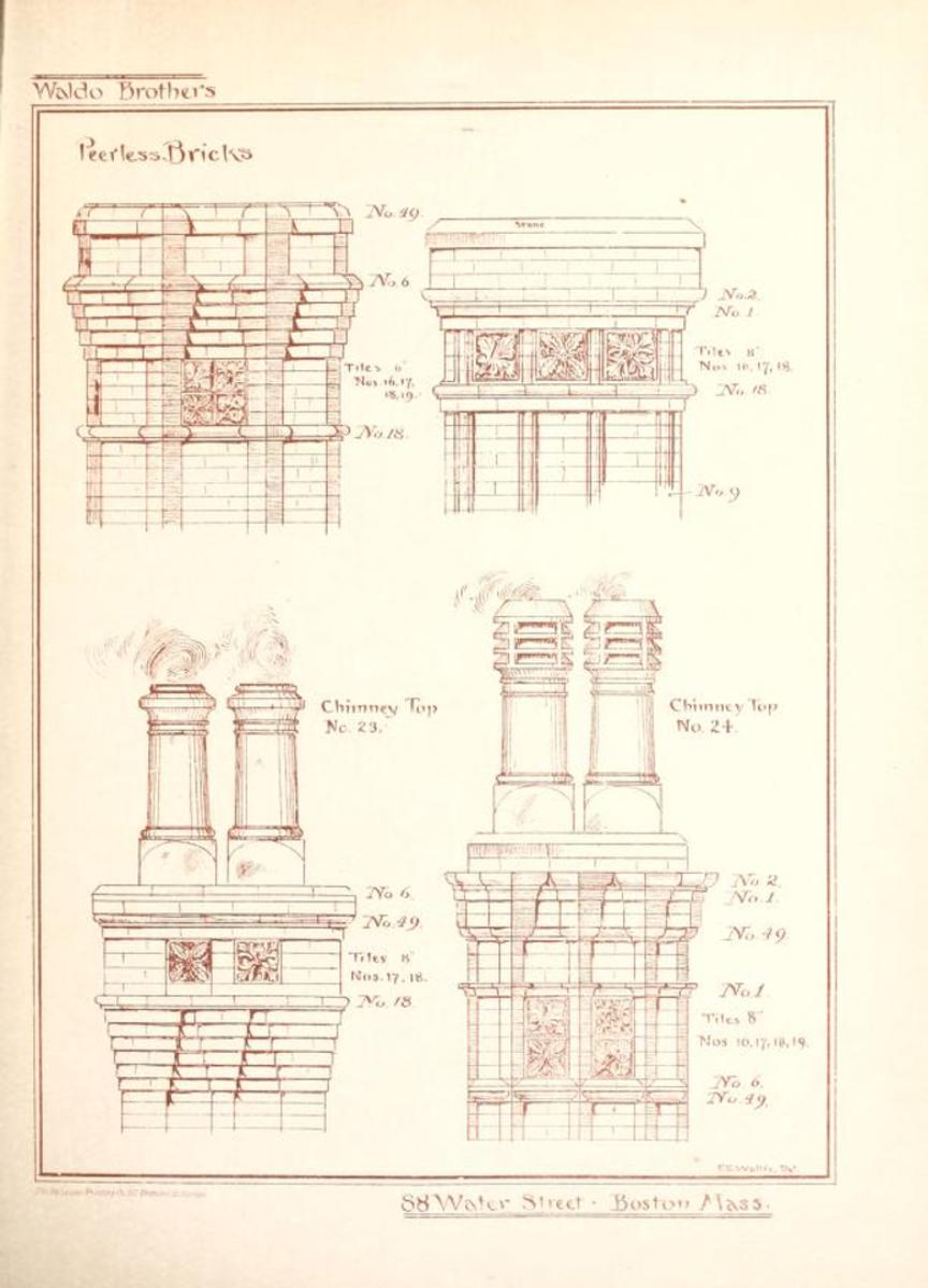 Waldo Brothers Brick, 1880s Boston MA