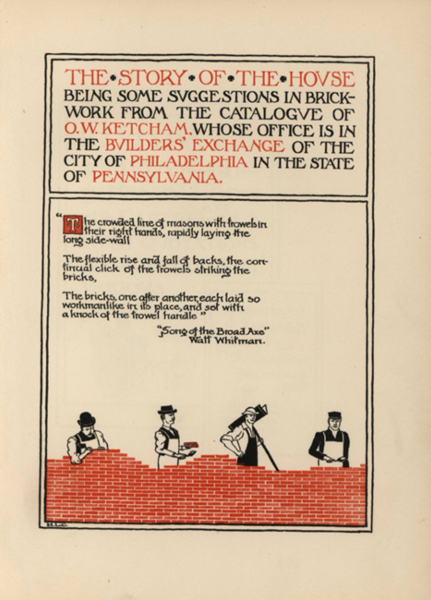 The Story of a House: being some suggestions in brickwork from the catalog of O. W. Ketchum…