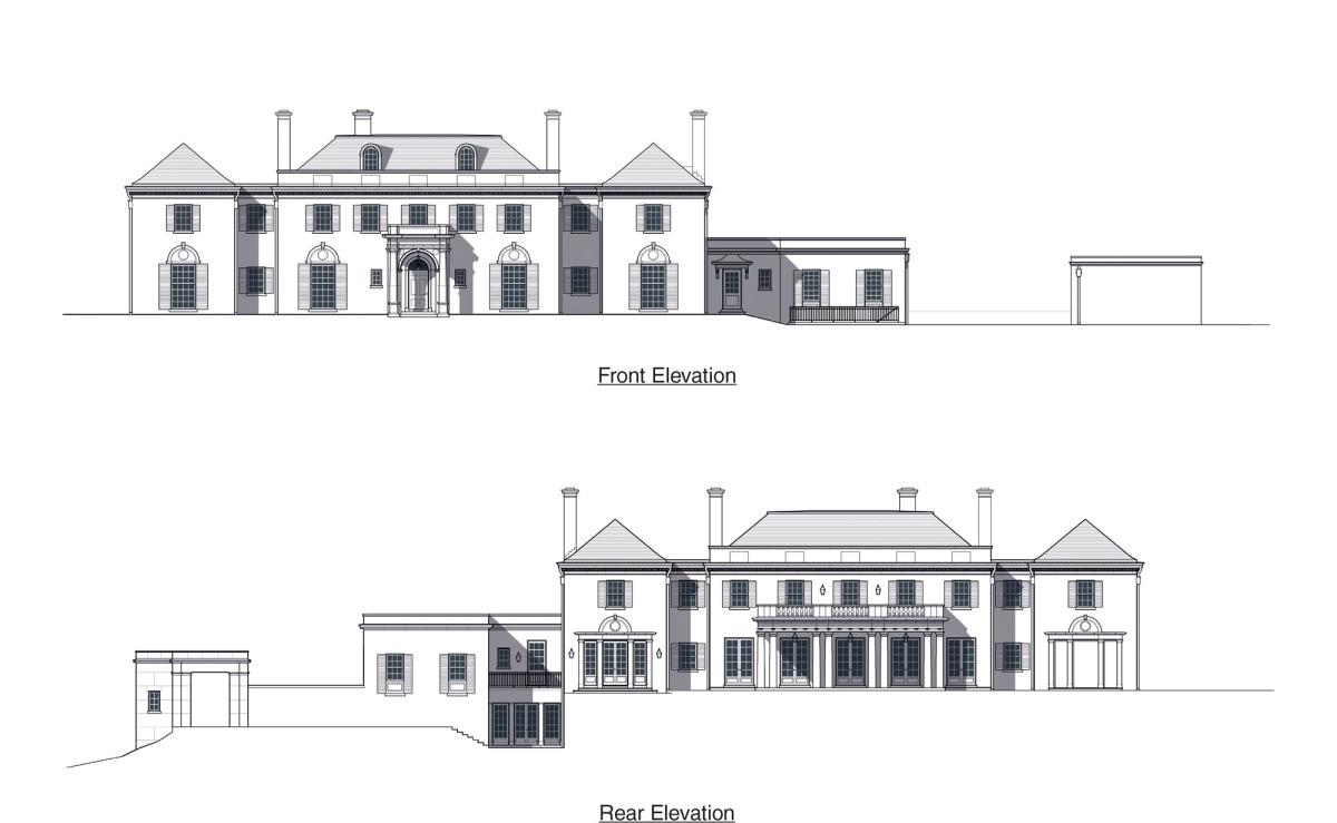 Jones & Boer Architects, Chain Bridge Road elevations