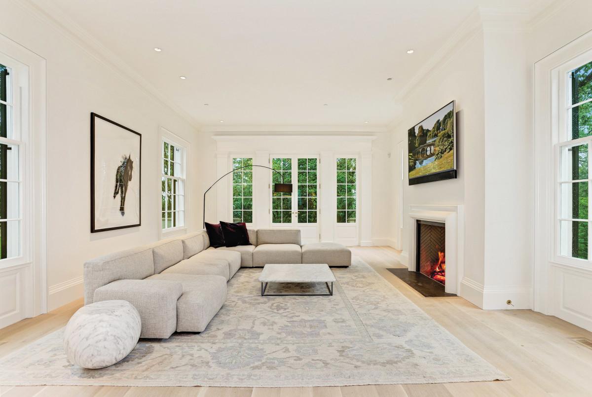 Jones & Boer Architects, Chain Bridge Road living room