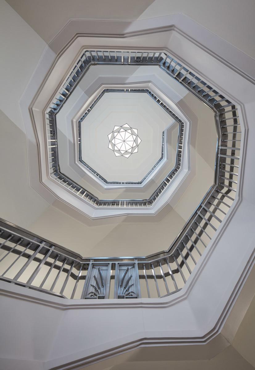 David M. Schwarz Architects Inc., Dickies Arena stairwell