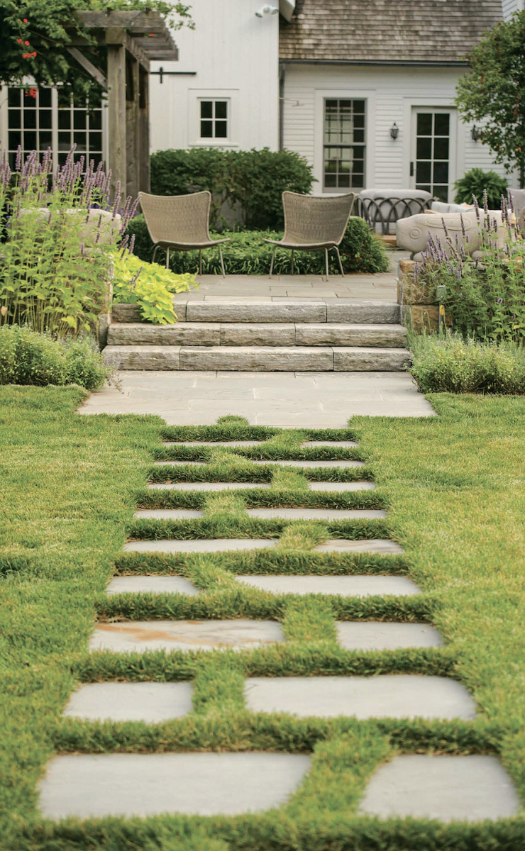 stone path, Janice Parker Landscape Architects, Beauty at Home