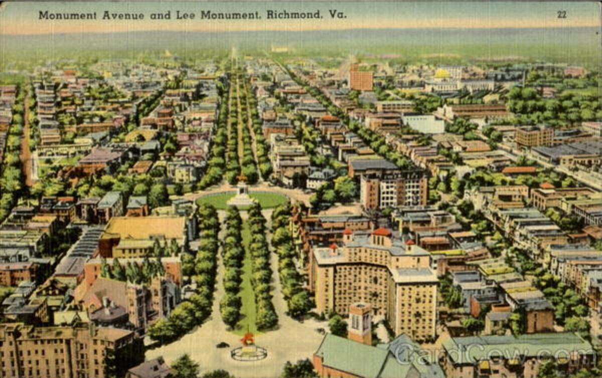 Monument Avenue postcard