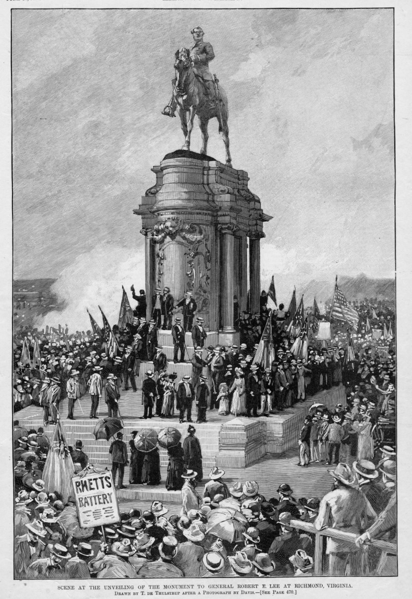 R E Lee statue unveiling 1890