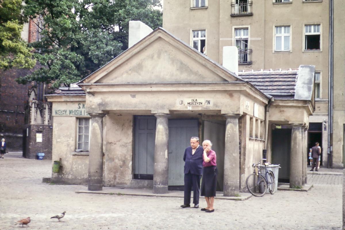 public toilet in Torun, Poland
