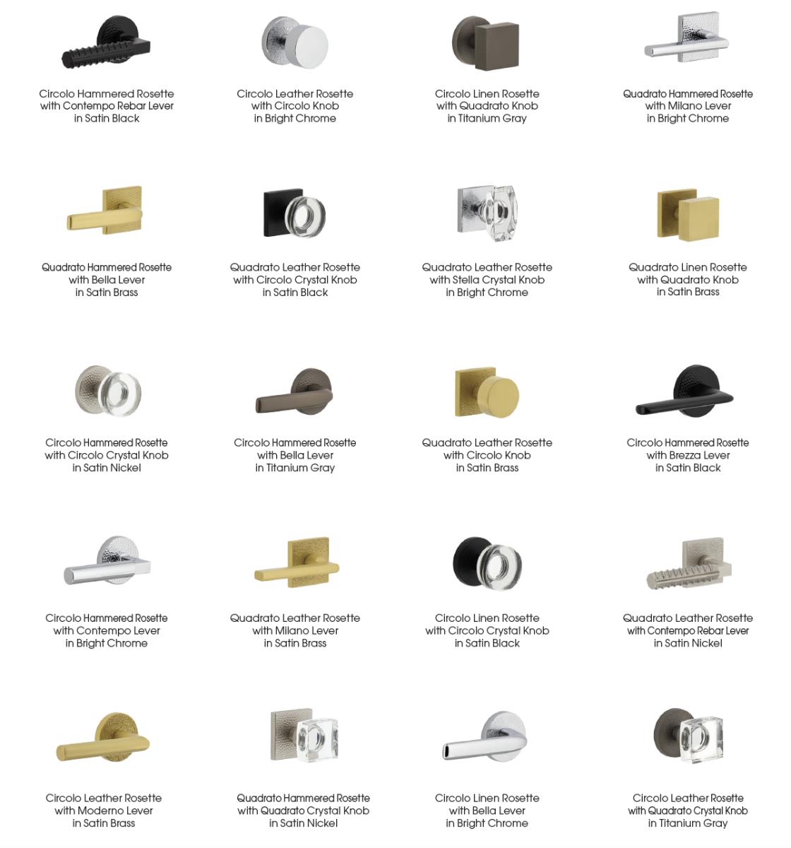 Motivo Collection by Viaggio Hardware