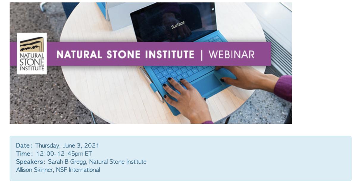 National Stone Institute webinar