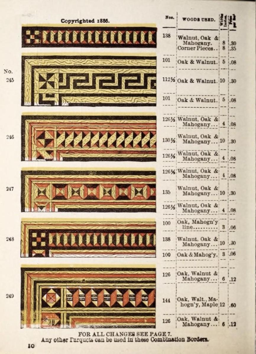 Boughton & Terwilliger, wood carpet, 1888