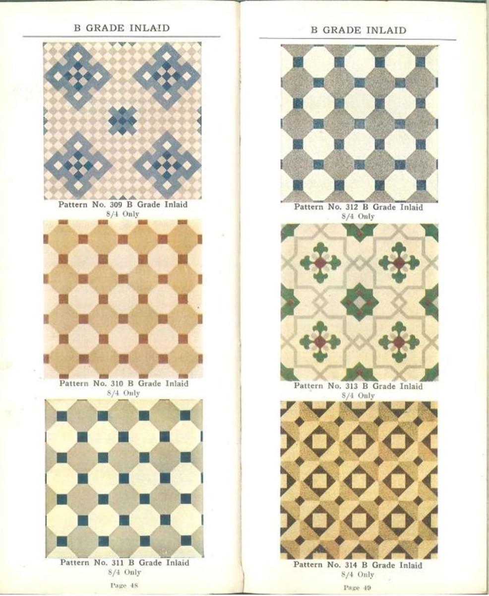 Blabon art linoleum styles, 1921